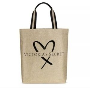 Victoria's Secret Gold Bling Tote New